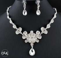 Bridal silver costume jewelry sets