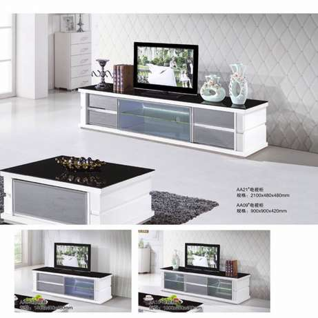 Glass paint TV cabinet and coffee table Melville - image 4
