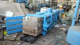 H20 mill size baler for compaction of cardboard and plastic waste