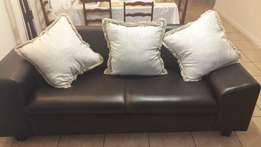 Faux Leather Couches- New