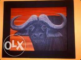 Original Framed Buffalo painting