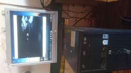 Hp tower(2GB ram,500GB Hhd) with compaq tft HD