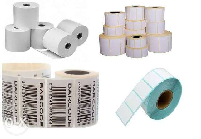 Thermal Receipt Rolls & Barcode labels.