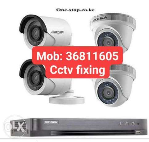 4 camera package with fixing 100 bhd only