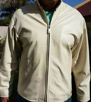 Geri soft leather jacket Medium white