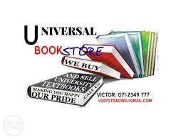 we BUY and sell prescribed university textbooks FOR cash