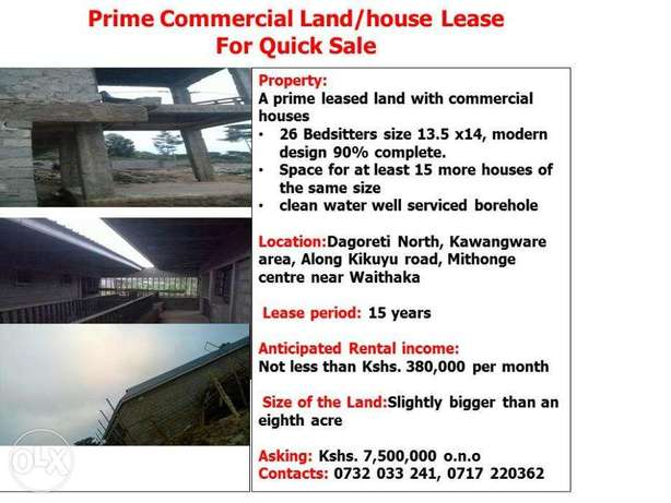 Prime Commercial Land/house Lease for Quick Sale Dagoretti - image 2