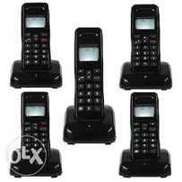 5 Extension Mobile Wireless Intercom Phone - Cordless Handset
