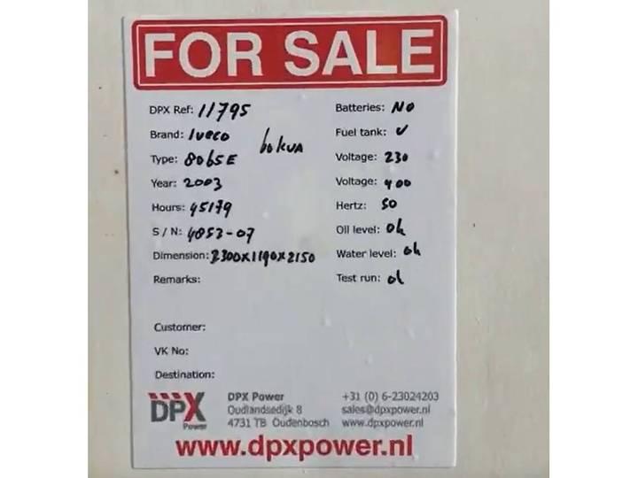Iveco 8065E - 60 kVA Generator - DPX-11795 - 2003 - image 15