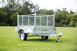 6x4 Welded BOX TRAILER xGalvanisedx600mm CAGE xTIPPER