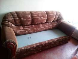 3 Seater sofa with a Poof