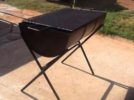 drum braai fold up stand