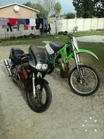 Two bikes to swop kx and rgt with 4 stroke