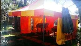 Partytent with two sidecovers 5x5meters