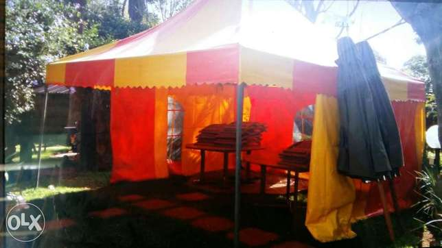 Partytent with two sidecovers 5x5meters Nyari - image 1