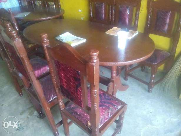 Dining table 6 seater wooden Bamburi - image 3