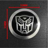 55mm Sticker Chrome Transformer Car Badge