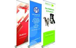 pull up banners, roll up banners, banners, wall banners, flags