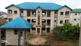 6 flats of three bedroom flats in two plots of lands at Woji town port Harcourt river stete