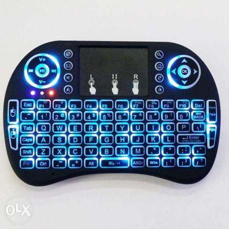 Mini 2.4G Backlit Wireless Touchpad Keyboard Air Mouse For Windows PC