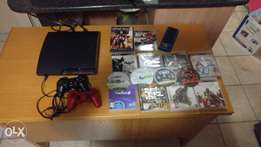 PS3 Good condition, 12 games, 2 controllers and charger.