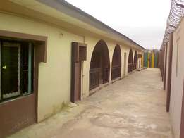 2 units of 3 bedroom bungalow on a plot fenced at igando Lagos.