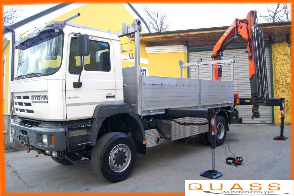 MAN FE 410 A 4x4 / EURO 3 / Palfinger PK 16502 / Montage - 2001
