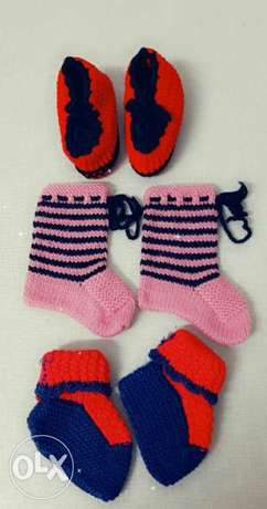 Babies hand made sock shoes New