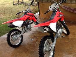 Honda CRF 230 and CRF 100