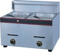 double pan t/model gas fryer