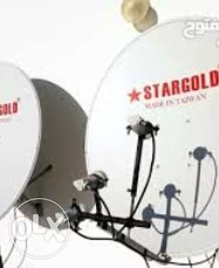 Dish antenna fixing and settings available