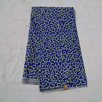 Blue Super Diva Wax with Yellow Pattern - 6 Yards