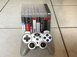 6 PS3 games and a DG Ps3 controller with USB for sale