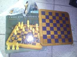 Chess and Draughts set, ex UK