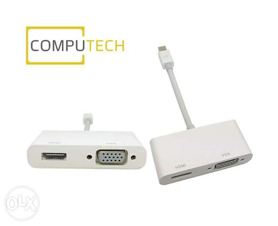 2 in 1 Mini DisplayPort to VGA & HDMI Adapter Cable