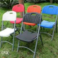 Brand new plastic folding chairs imported