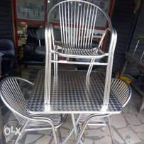 Stainless Restaurant set, table with 4chairs