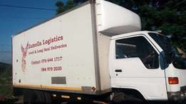4 Ton Closed Body Truck (21 M3 Capacity) For Hire