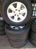 Bridgestone dueler hp 265/65/R17 Tyres with mag rims for Toyota Hilux