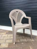 Plastic Outdoor chairs x 8