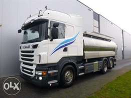 Scania R620 6x2 Retarder Euro 5 Steering Axle Milk Tank - For Import