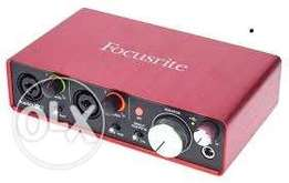 Focusrite 2i2 with Drivers and USB Cable