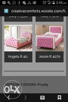 Kiddies sleigh beds