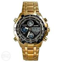 Quamer gold wrist watch