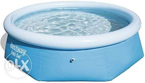 Bestway swimming pool with box used like new