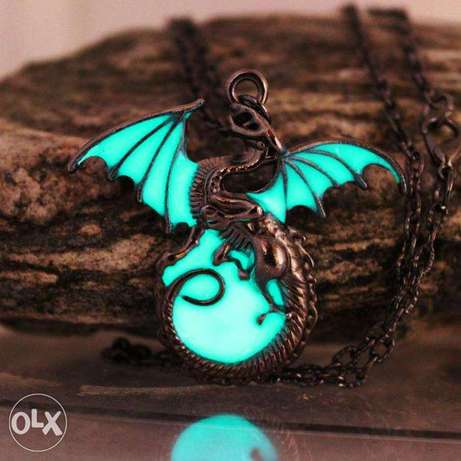 Game Of Thrones Luminous Dragon Chain Pendant Necklace Gothic Vintage Nairobi CBD - image 1
