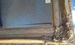 Beautiful, very large and ornate Gold Bevelled Mirror