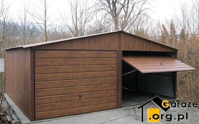 Wybitny Garaże Blaszane 6x5 PREMIUM Garaż Blaszany Blaszak Drewnopodobne VB25