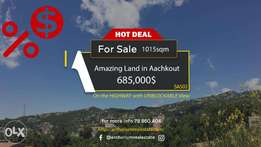 PRIME LOCATION Land in Aachkout on the HIGHWAY with VIEW أرض في عشقوت
