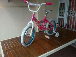 New, unused. 16 inch Princess bicycle